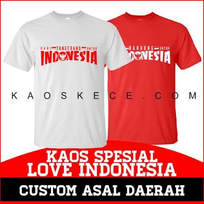 kaos love indonesia