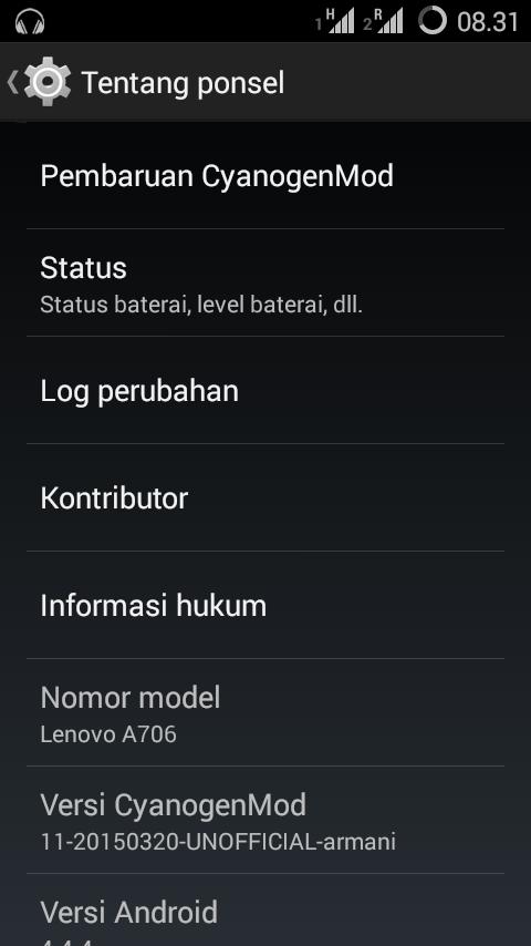 Custom ROM KitKat Lenovo A706 - CyanogenMod 11 M12 Release 1