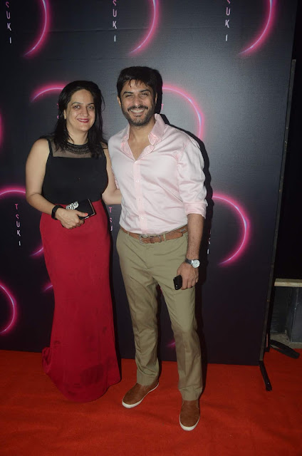 Vikas Bhalla & his wife at Tsuki launch