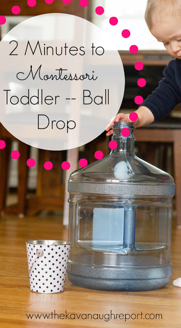 2 Minute Montessori Activity Toddler Ball Drop