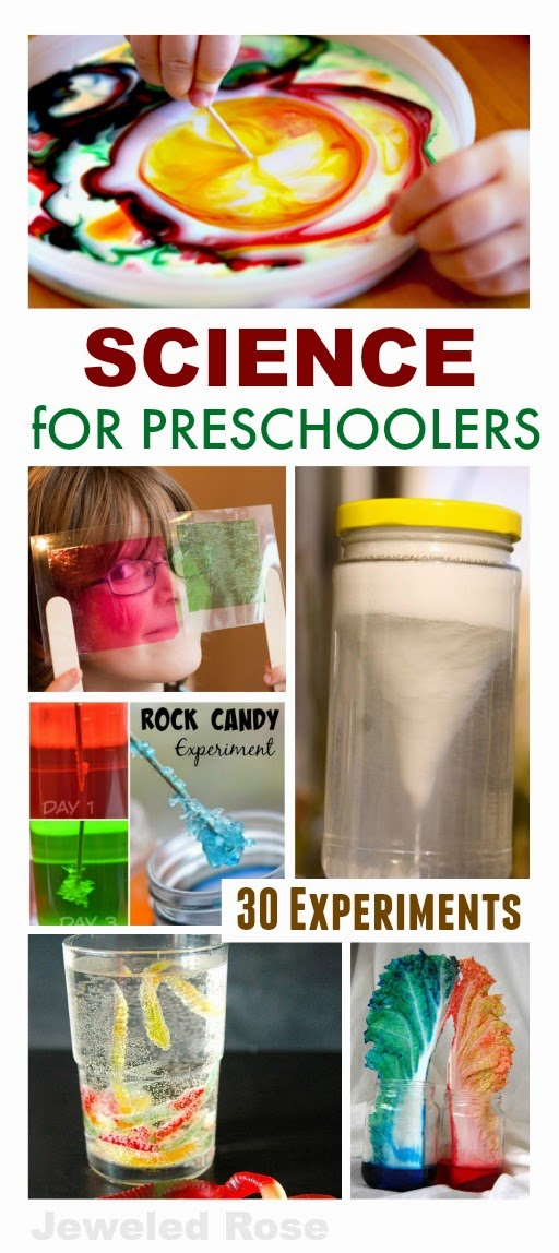 30 FUN Science experiments perfect for preschoolers- We have done a few of these, and my kids were in awe!