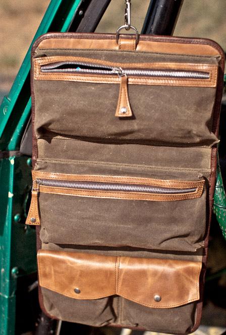 Buffalo Jackson Trading Co  Men s Leather Waxed Canvas Travel Kit ... 4001ec4b0d057