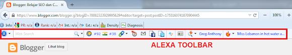 penampilan alexa toolbar pada browser
