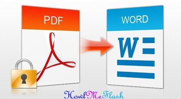 Converting From PDF To Word