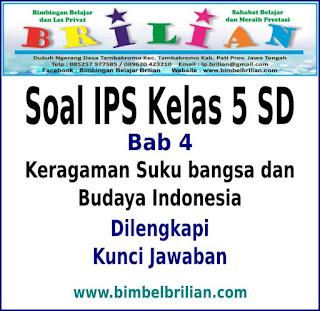 Keragaman Suku bangsa dan Budaya Indonesia Dan Kunci Jawaban Soal IPS Kelas 5 SD Bab 4 Keragaman Suku bangsa dan Budaya Indonesia Dan Kunci Jawaban