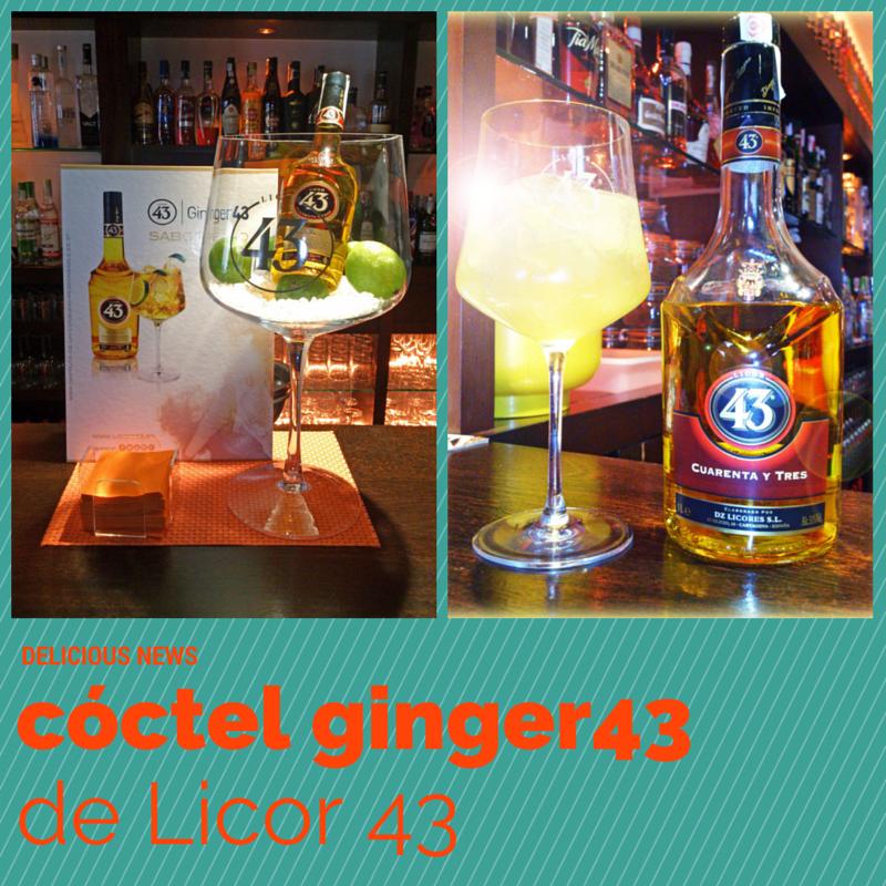 cocktail cóctel ginger43 licor43 la cassette vitoria gasteiz copas lujo