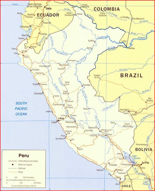 Gambar Peta politik Peru