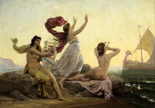 "Marie-François Firmin Girard  ""Ulysses and theSirens""1868"
