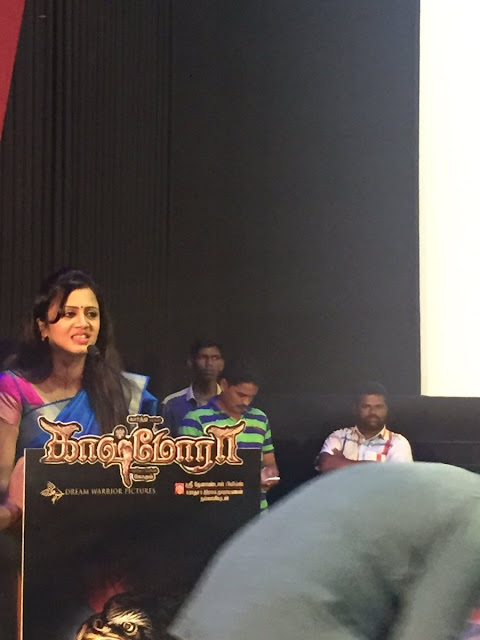 Vj anjana rangan at Kaashmora Tamil Audio Launch press meet