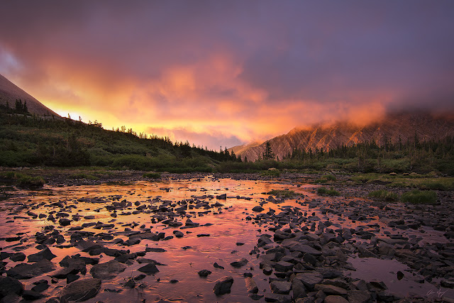sunrise in the Sangre de Cristo Wilderness of southern Colorado in South Colony Lakes