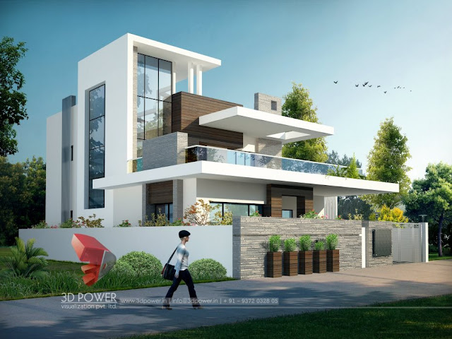 Front Design Of Punjabi House Part - 29: Bungalow 3D Elevation | Bungalow Elevation | Bungalow Front Design
