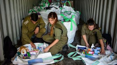 Exército de Israel envia toneladas de comida e combustível à Síria