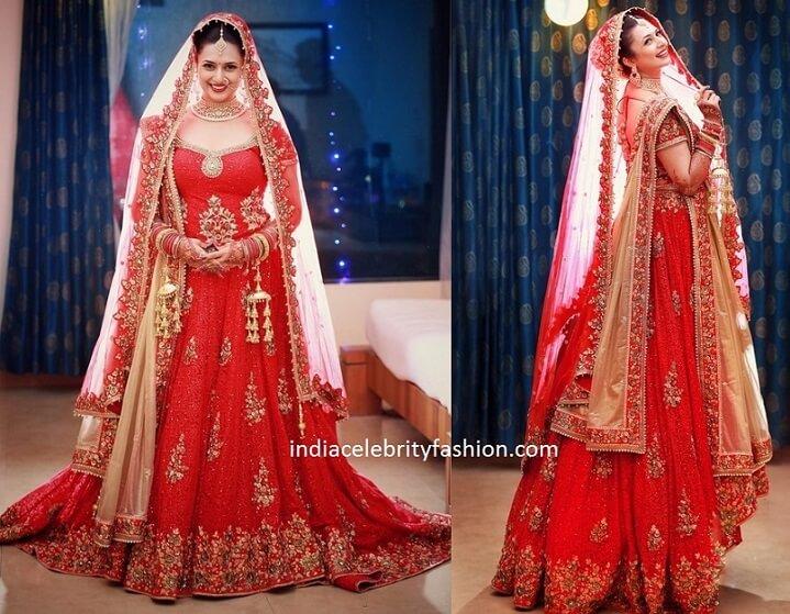 Divyanka Tripathi Wedding Lehenga