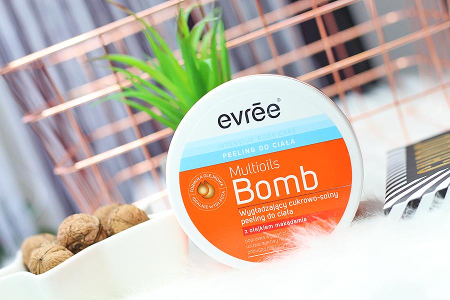 Evrēe Multioils Bomb - Wygładzający cukrowo-solny peeling do ciała