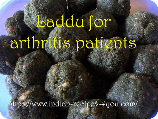 Laddu for arthritis patients - Indian Recipes 4 you
