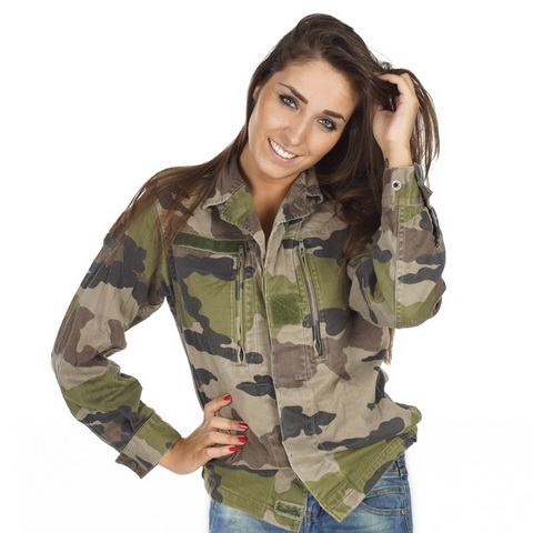tendance mode army veste camouflage femme arm e francaise mode vintage. Black Bedroom Furniture Sets. Home Design Ideas