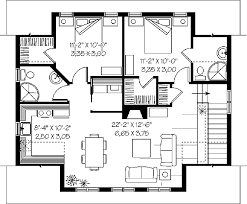 3 bedroom flat plan drawing 3d house plans - Detailed three bedroom flat ...