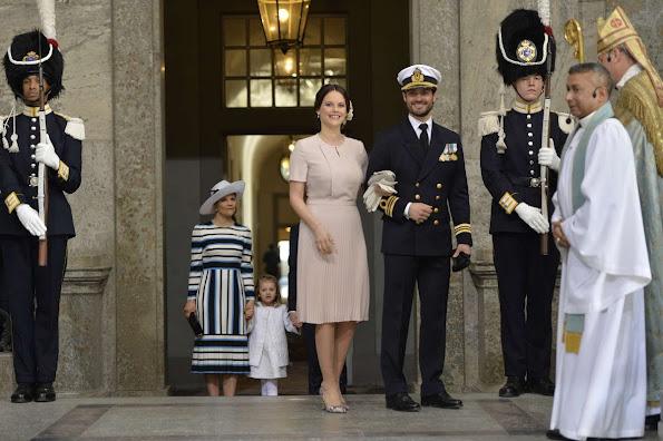 King Carl Gustaf, Queen Silvia, Crown Princess Victoria, Prince Daniel, Princess Estelle, Princess Madeleine, Christopher O'Neill, Prince Carl Philip and Princess Sofia