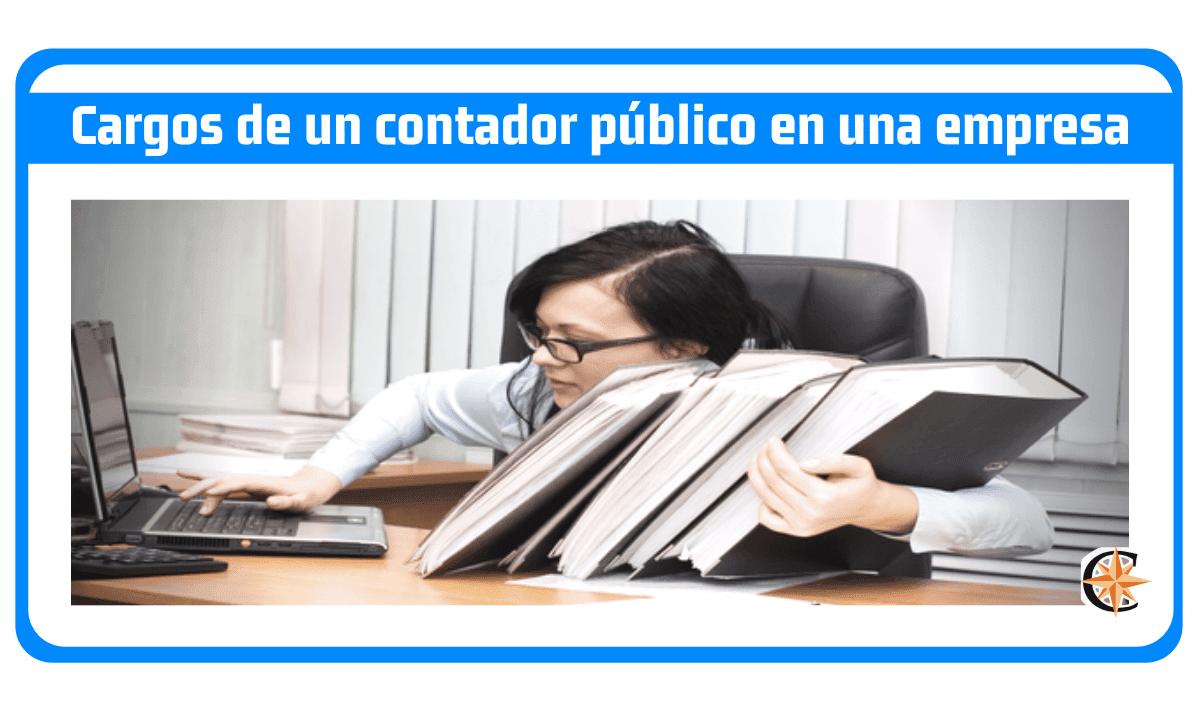 Cargos de un contador público en una empresa