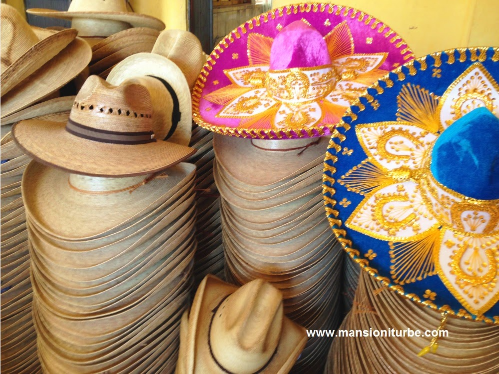 Fine hand-crafted hats can be found in Jaracuaro