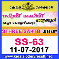 kl result yesterday,lottery results, lotteries results, kerala lottery, keralalotteryresult, kerala lottery result, kerala lottery result live,   kerala lottery results, kerala lottery today, kerala lottery result today, today kerala lottery result, kerala lottery result 11-7-2017   sthree-sakthi lottery ss 63, sthree sakthi lottery, sthree sakthi lottery today result, sthree sakthi lottery result yesterday,   sthreesakthi lottery ss63, sthree sakthi lottery 11.7.2017