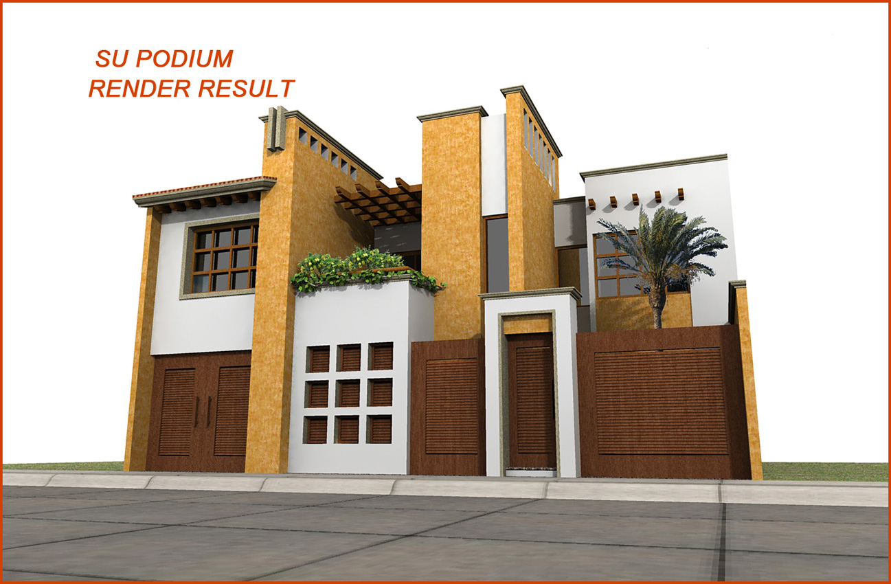 Exterior model - what you need for the podium