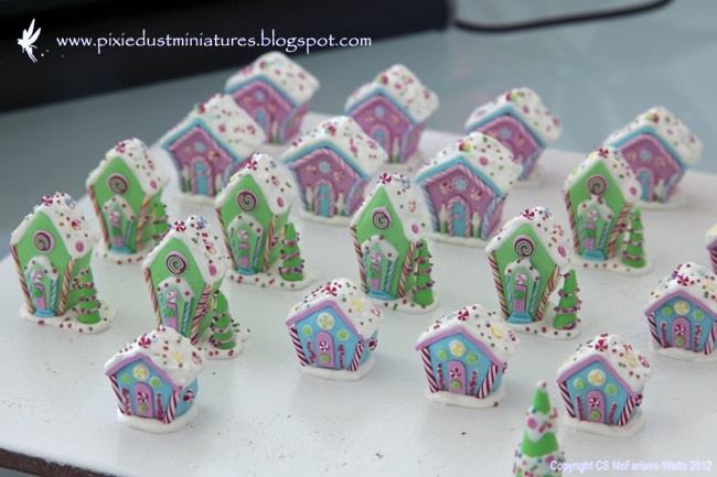 Polymer Clay Christmas Village.Pixie Dust Miniatures My Workspace Making A Gingerbread