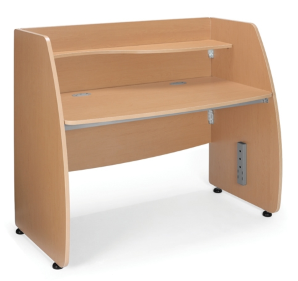 OFM Modular Privacy Workstation with Maple Finish
