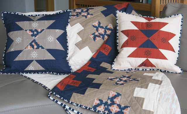 Luna Lovequilts - Quilted cushions with Southwest inspired block and Arizona After collection