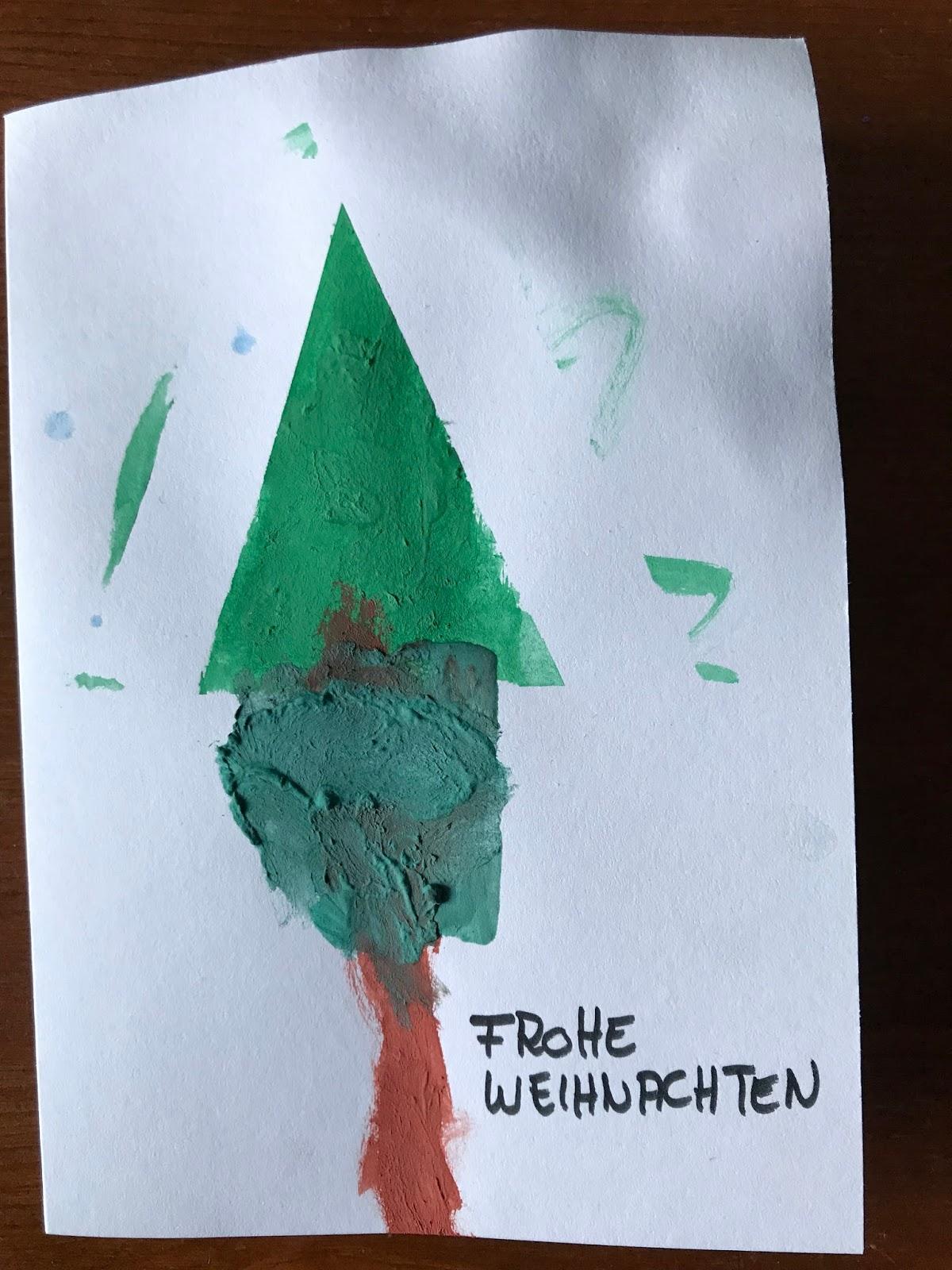 Weihnachtskarten Selber Basteln Mit Kindern Easypeasy Diy