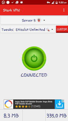 Etisalat Unlimited Free Browsing Blazing With Stark VPN V3.4