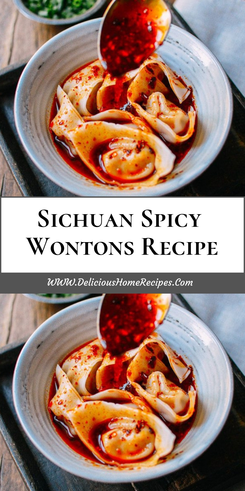 Sichuan Spicy Wontons Recipe