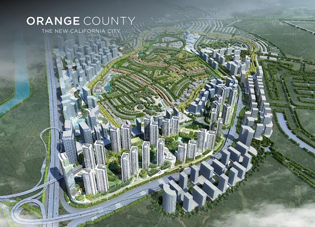 Master Plan Orange County yang dibangun oleh Lippo Group di Lippo Cikarang
