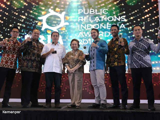 Kementerian Pariwisata Dianugerahi Public Relation Indonesia Awards