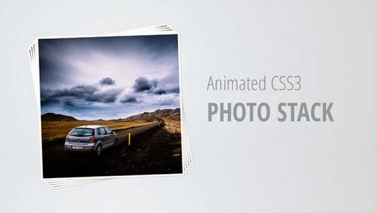 Animated CSS3 Photo Stack