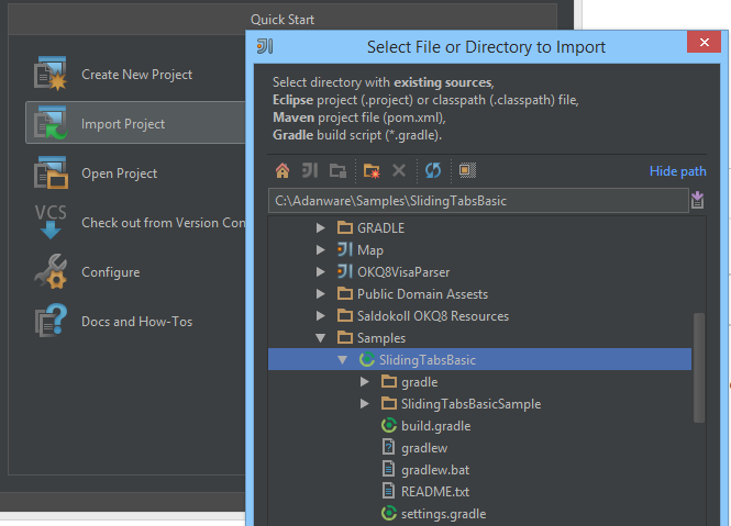 Android : Importing (older) Android gradle projects in IntelliJ IDEA