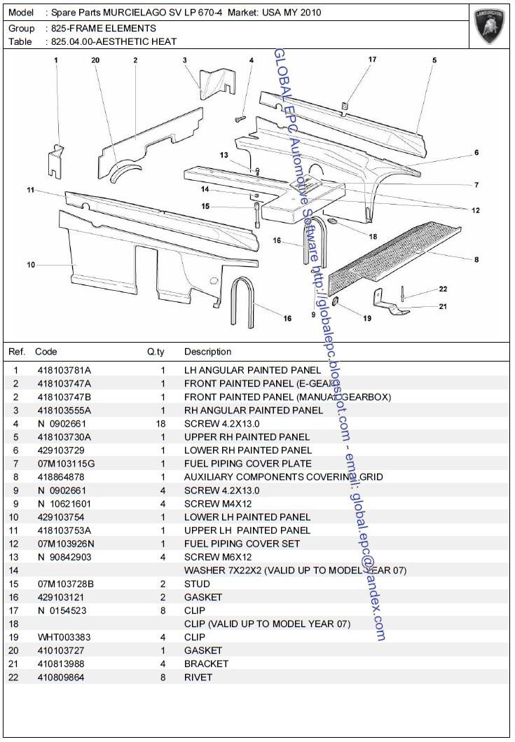 AUTO MOTO REPAIR MANUALS: LAMBORGHINI MURCIELAGO 2010 SV