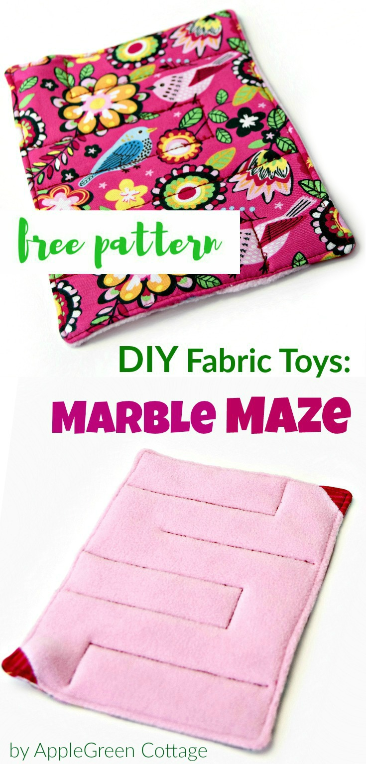 How to sew a marble maze diy kids toys applegreen cottage free pdf sewing pattern and beginner tutorial for a cute fabric marble maze toy for kids jeuxipadfo Gallery