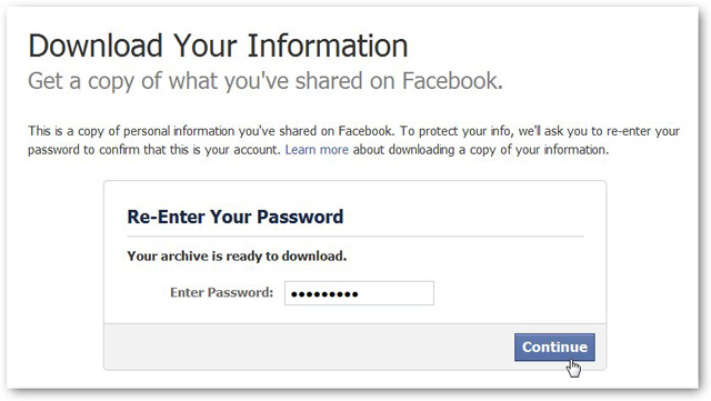 Masukan Password Facebook
