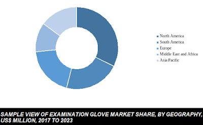 examination glove market share by geography