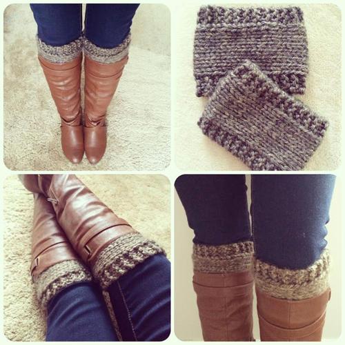 Knitted Boot Cuffs - Free Pattern