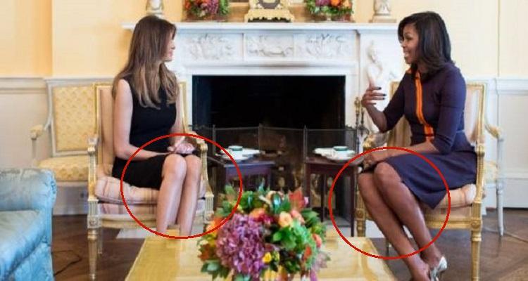 محللة في لغة الجسد تعلن عن مفاجاة في لقاء ميشيل أوباما و زوجة ترامب