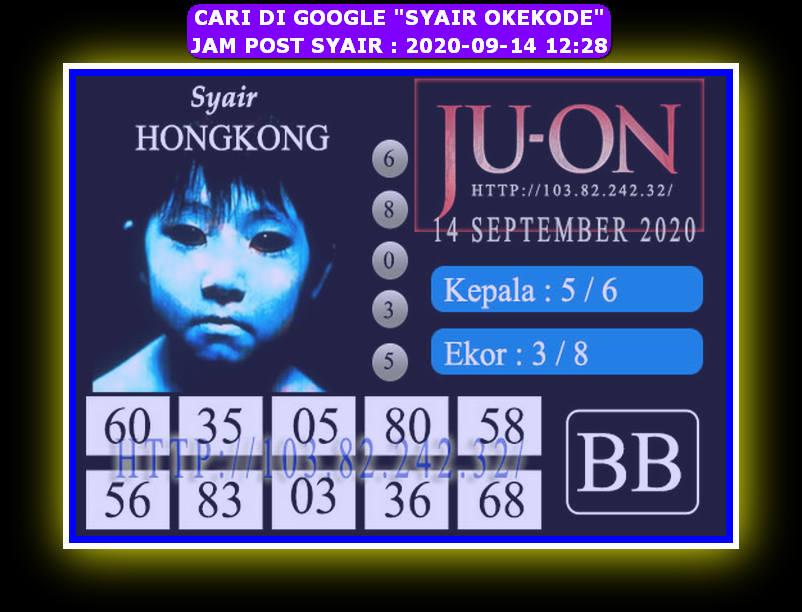 Kode syair Hongkong Senin 14 September 2020 300