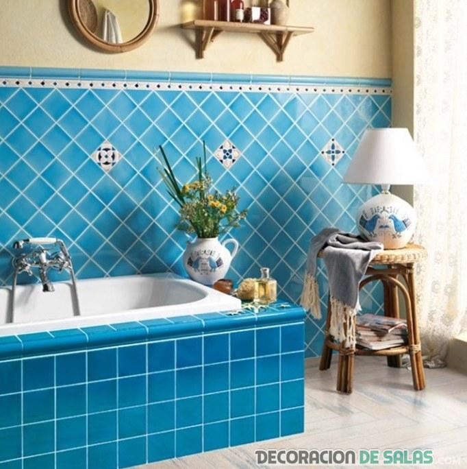 Decora tu hogar - Azulejos azules para bano ...