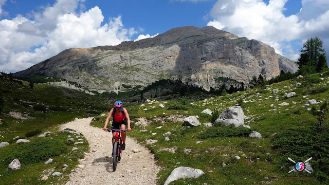 Mountainbiken Cortina - Grossfanes Alm