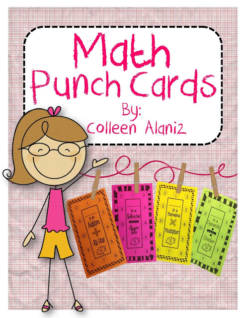 https://www.teacherspayteachers.com/Product/Math-Fact-Punch-Cards-307956