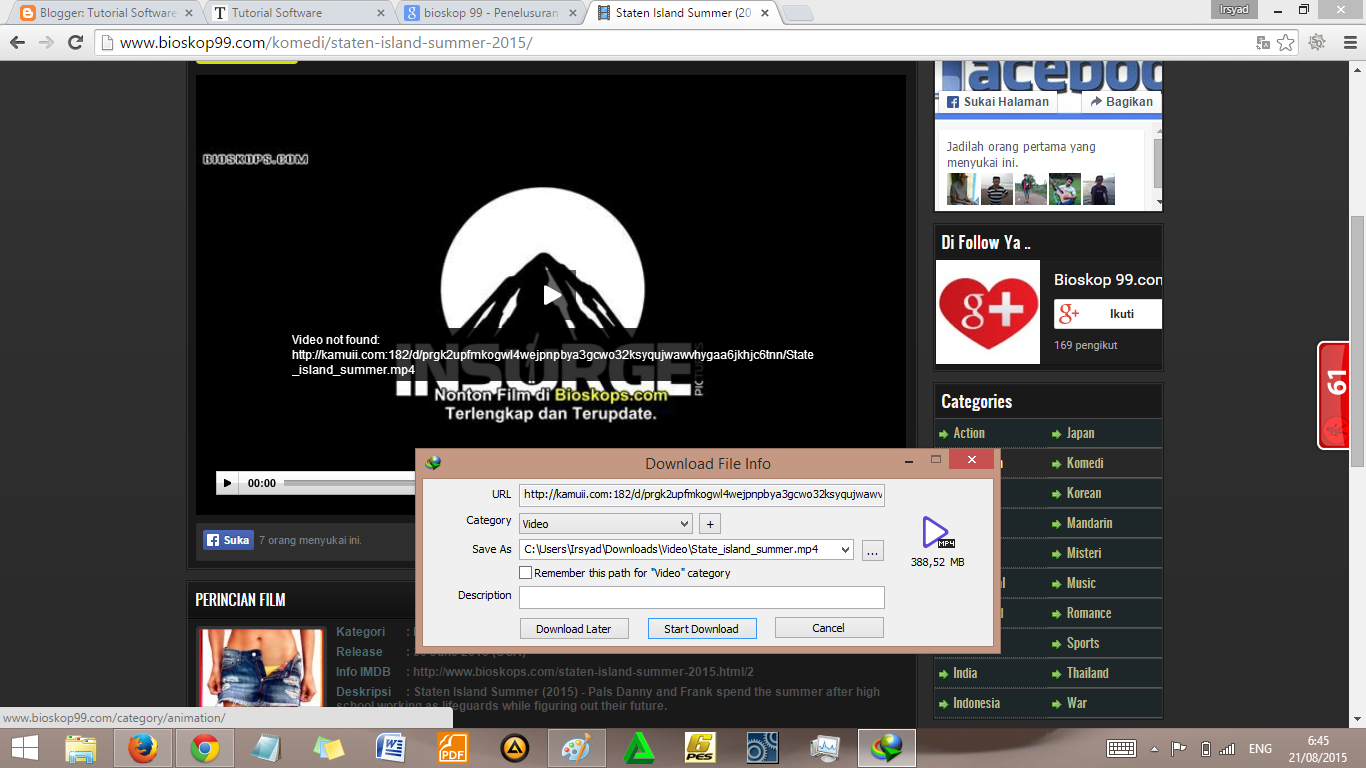 Cara Cepat Download Film di Bioskop99.com dalam Sekejap ...