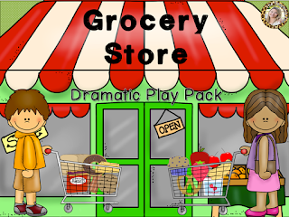 https://www.teacherspayteachers.com/Product/Grocery-Store-Dramatic-Play-Pack-993038