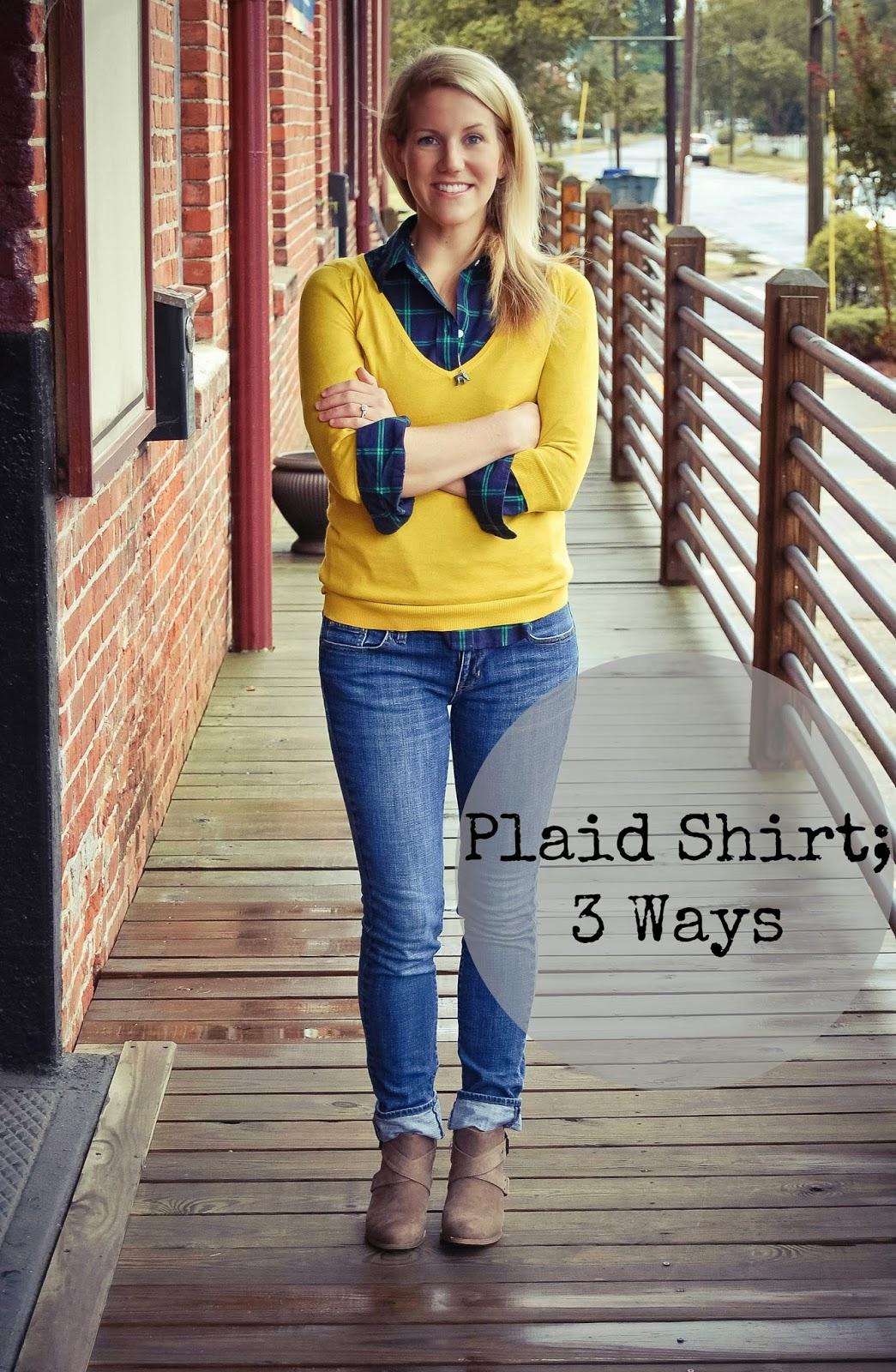 c559f3faeb5 Dancing With Ashley  3 ways to wear a plaid shirt