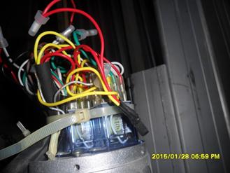 Control motor rolling door